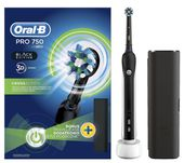 Oral-B PRO 750 Cross Action elektromos fogkefe, Black Edition